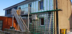 """Rénovation du bâtiment du service de repassage """"Sans un pli"""" Février 2019"""